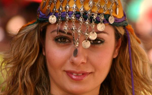 Turkish Women with Jewelry in Hair