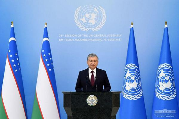 Uzbek President Addresses UN Genreal Assembly